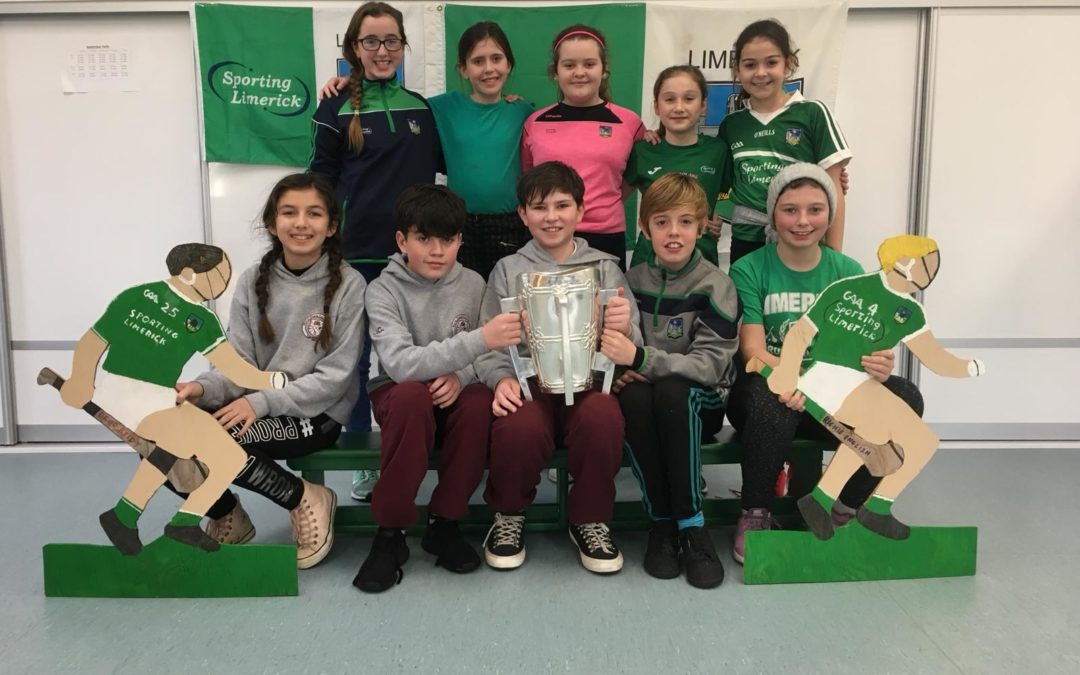 Liam McCarthy visits Killoughteen NS