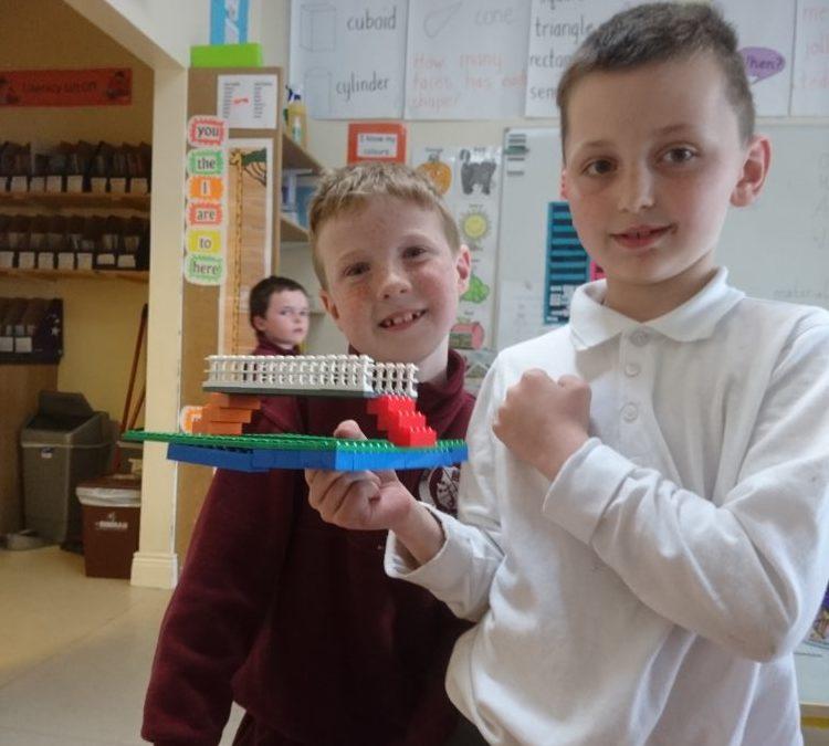1st Class STEM building challenge