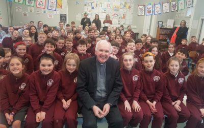 Bishop Brendan Leahy visits Killoughteen NS