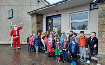 Santa Claus visits Killoughteen NS